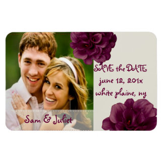 PixDezines burgundy calla save date/DIY color Magnet