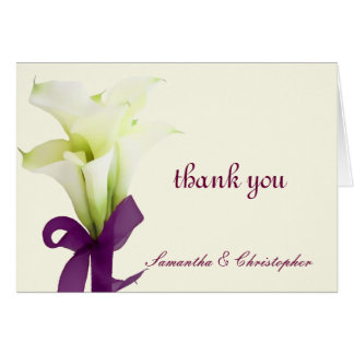 PixDezines calla lilies, wedding thank you Card
