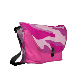 PixDezines Camo/sassy pink Courier Bag