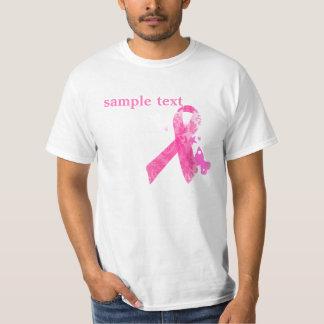 PixDezines Cancer Awareness, Pink Ribbon T-Shirt