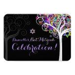 PixDezines celebration tree of life Bat Mitzvah 9 Cm X 13 Cm Invitation Card