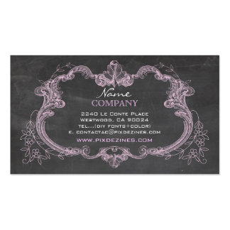 PixDezines chalkboard+rococo frame Business Card Template