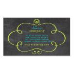 PixDezines chalkboard+scrolls frame Business Card Template