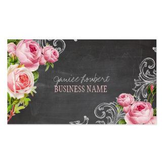 PixDezines Chalkboard+Vintage Roses Pack Of Standard Business Cards
