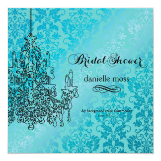 PixDezines chandelier/bridal shower Card