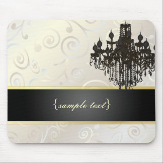 PixDezines Chandelier cupcakes swirls/pearly white Mouse Pad