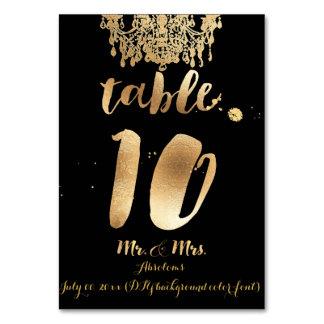 PixDezines Chandelier/Faux Gold/table 10 Table Cards