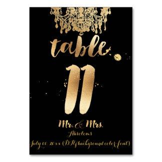 PixDezines Chandelier/Faux Gold/table 11 Table Cards