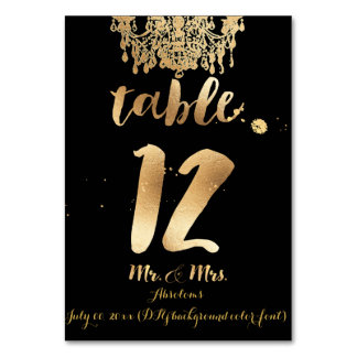 PixDezines Chandelier/Faux Gold/Table 12 Table Cards