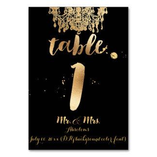PixDezines Chandelier/Faux Gold/table 1 Table Cards