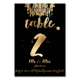 PixDezines Chandelier/Faux Gold/table 2 Table Cards