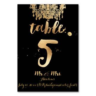 PixDezines Chandelier/Faux Gold/table 5 Table Cards