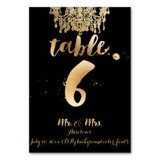 PixDezines Chandelier/Faux Gold/table 6 Table Card