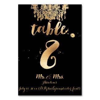 PixDezines Chandelier/Faux Gold/table 8 Table Card