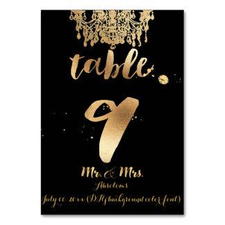 PixDezines Chandelier/Faux Gold/table 9 Table Cards