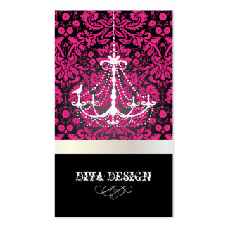 PixDezines Chandelier + lace damask /pearl + white Business Cards