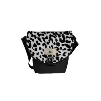 PixDezines cheetah spots/monogram Commuter Bags