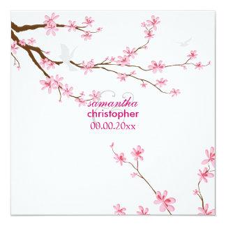 PixDezines Cherry blossom/diy background 13 Cm X 13 Cm Square Invitation Card