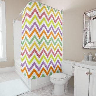 PixDezines Chevron/Colorful/DIY background Shower Curtain