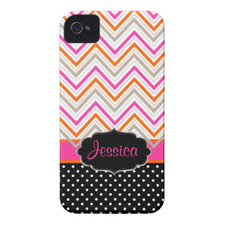 PixDezines Chevron/DIY background color iPhone 4 Case