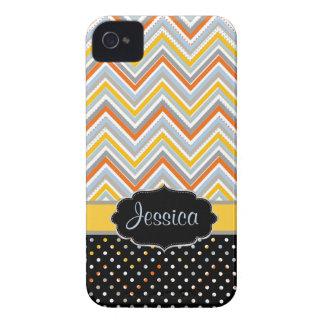 PixDezines Chevron oj,yellow/DIY background color iPhone 4 Case-Mate Cases