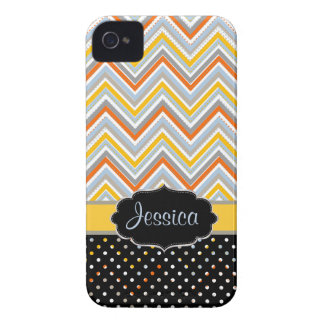 PixDezines Chevron oj,yellow/DIY background color iPhone 4 Case-Mate Case