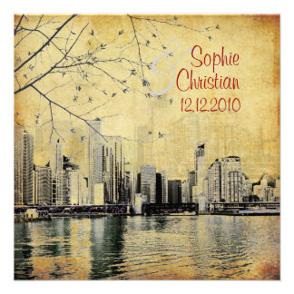 PixDezines Chicago Lakeshore Skyline/invitations