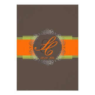 PixDezines Chole Filigree|orange+lime|DIY colors Announcements