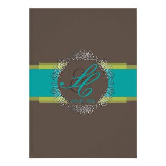 PixDezines Chole Filigree/teal+brown/DIY colors Custom Announcement