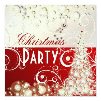 PixDezines Christmas invitations/champagne bubbles 13 Cm X 13 Cm Square Invitation Card