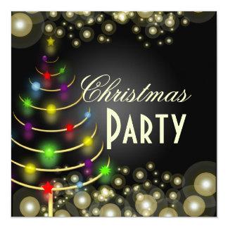 PixDezines Christmas Party, champagne bubbles 13 Cm X 13 Cm Square Invitation Card