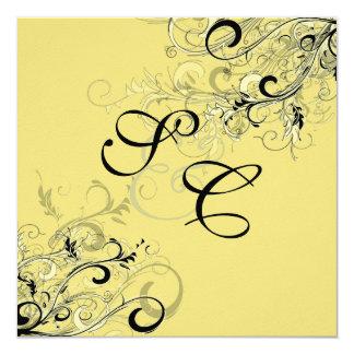 PixDezines citrus swirls/diy background 13 Cm X 13 Cm Square Invitation Card