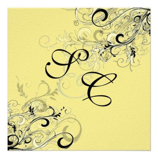 PixDezines citrus swirls/diy background Invite
