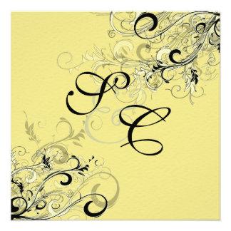 PixDezines citrus swirls diy background Invite