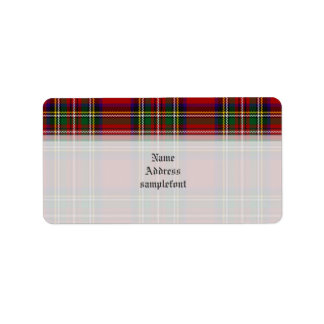 PixDezines clan stewart tartan/red+green Address Label