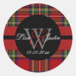 PIxDezines clan stewart tartan Round Stickers