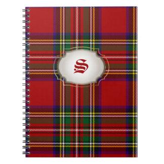 PixDezines clan stewart tartan Spiral Note Books