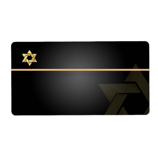 PixDezines Classic Bar Mitzvah/black+gold/Shipping