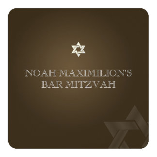 PixDezines classic mitzvah/brown/diy color Card