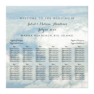 PixDezines Cloud 9/Sky/Wedding Seating Chart Canvas Print