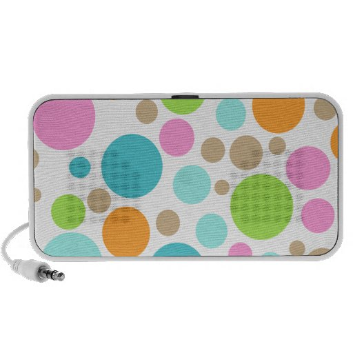 PixDezines Colorful Polka Dot Portable Speakers