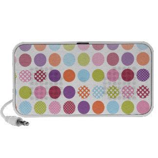 PixDezines Colorful Polka Dot Mini Speaker