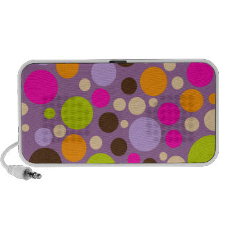 PixDezines Colorful Polka Dot Notebook Speakers