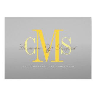 PixDezines Contemporary + classy/grey + yellow Card
