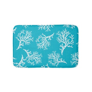 PixDezines coral/diy background color Bath Mat