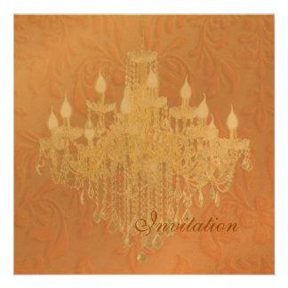 PixDezines Crystal Chandelier, Pink Baroque Custom Invitations