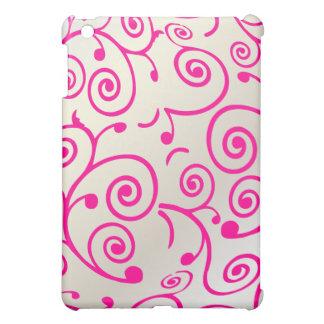 PixDezines Cupcake Swirls, Faux Pearl+Hot Pink iPad Mini Cases