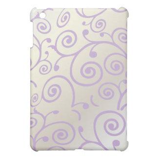 PixDezines Cupcake Swirls, Faux Pearl+Lilac Case For The iPad Mini