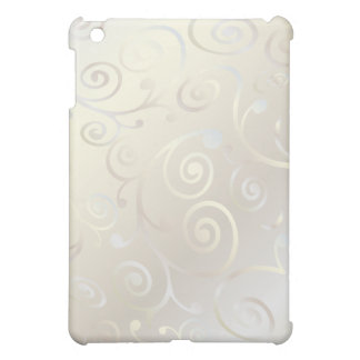 PixDezines Cupcake Swirls, Faux Pearl+Pearl iPad Mini Cover