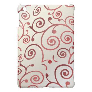 PixDezines Cupcake Swirls, Faux Pearl+Red iPad Mini Cover